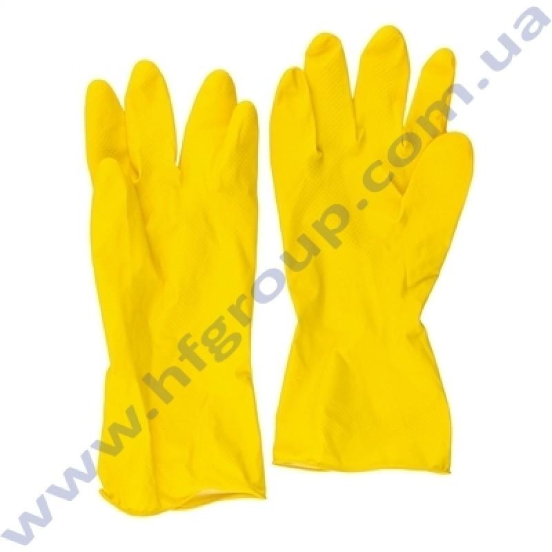 Перчатки резиновые эконом (L) 2 шт Гармония
