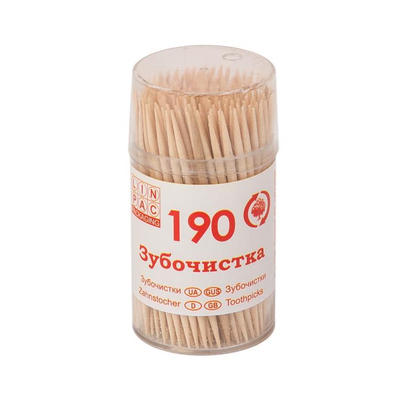 Зубочистки 65 мм в стаканчике 190 шт Linpac
