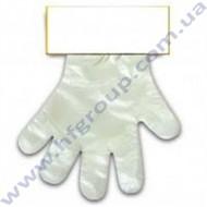 Перчатки РЕ (L) на картонке 10...